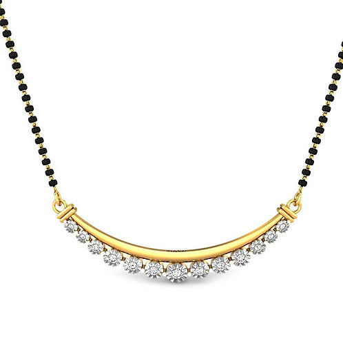 Gold Diamond Mangalsutra - 014