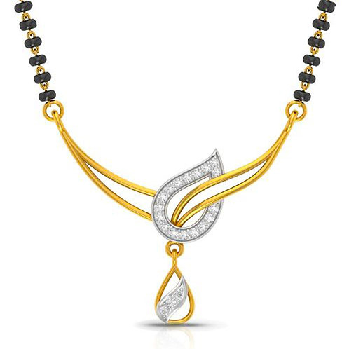 Gold Diamond Mangalsutra_031