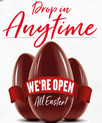 We are Open all Easter weekend !