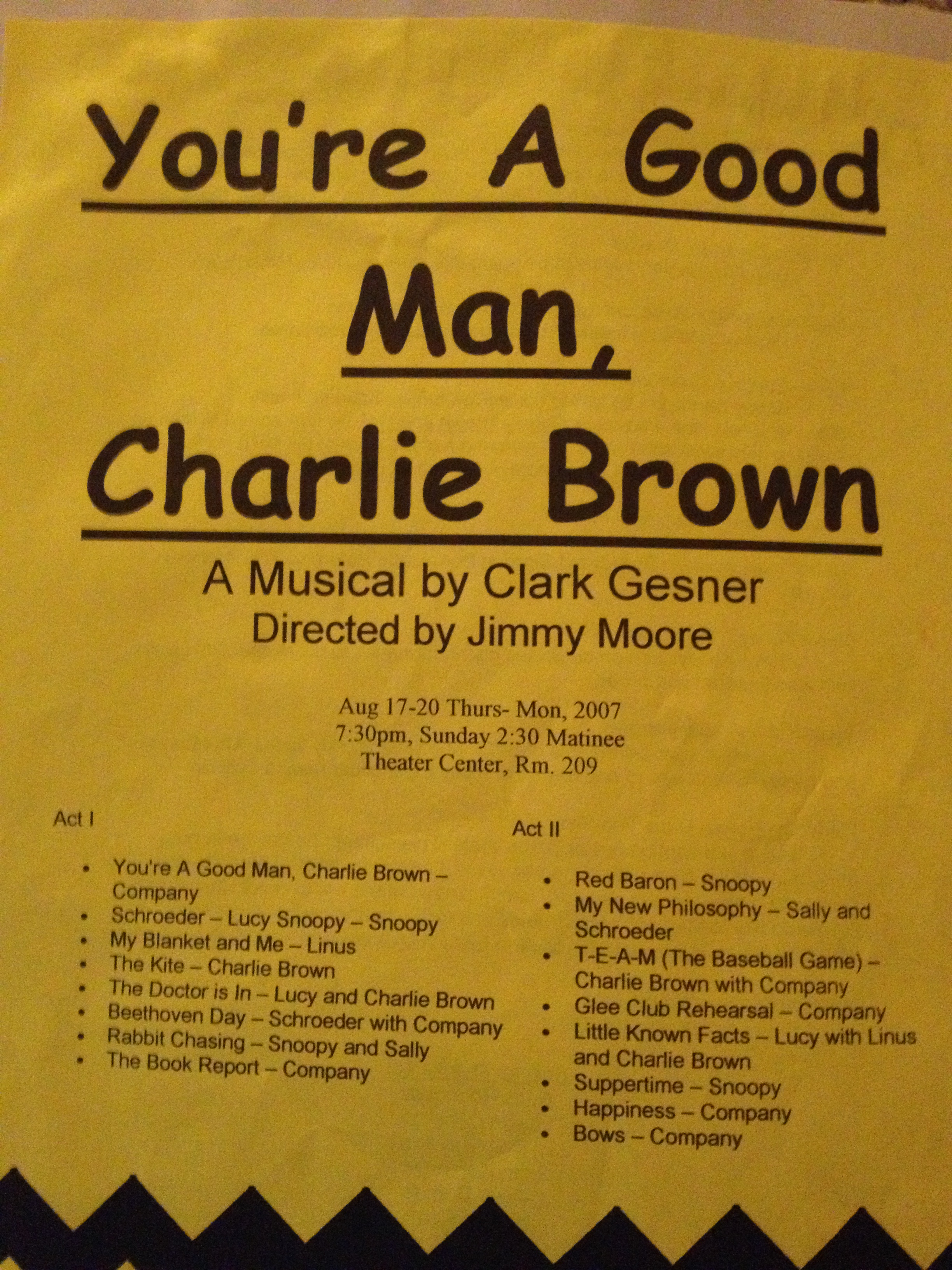 You're A Good Man Charlie Brown 2007