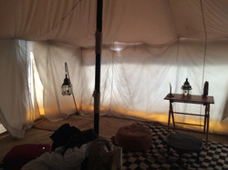 luxury camping at the desert