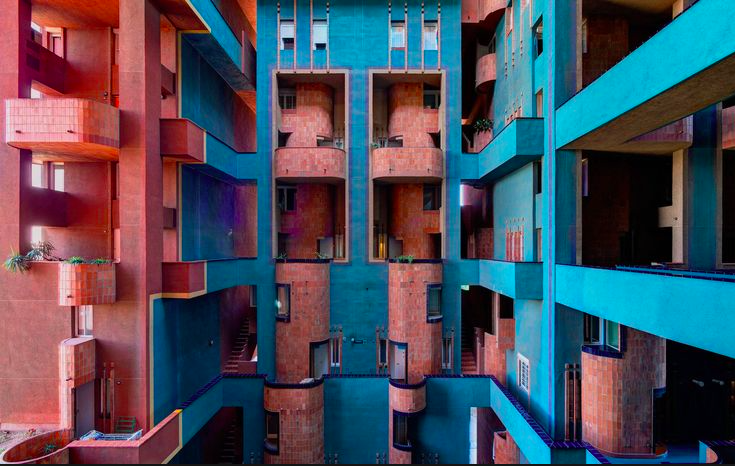 2 Colorful geometric building Europe