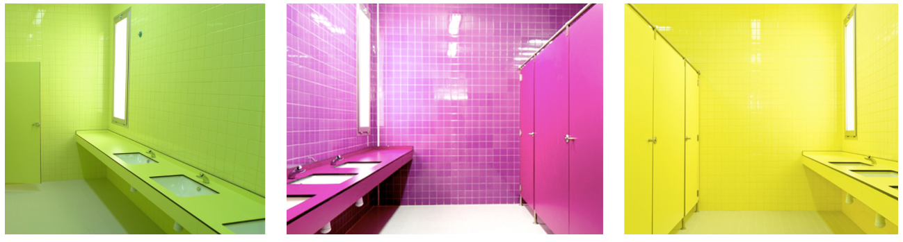 Colorful Bathroom in Spain