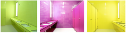Colorful Bathroom in Spain