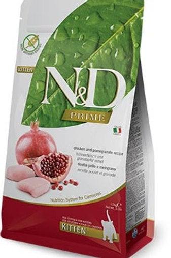 """N&D PRIME – מזון לגורי חתולים – עוף ורימון 1.5 ק""""ג"""