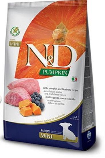 "N&D PUMPKIN – מזון לגורי כלבים– כבש, דלעת ואוכמניות 12 ק""ג גזע גדול"