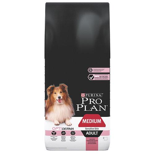 """פרו פלאן לעור רגיש בכלבים בוגרים מגזע בינוני 14 ק""""ג"""
