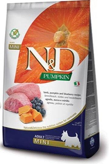 "N&D PUMPKIN – מזון לכלב בוגר – כבש, דלעת ואוכמניות 12 ק""ג גזע גדול"