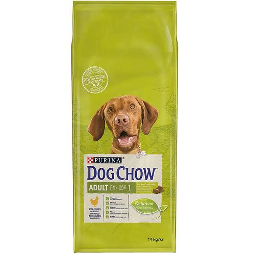 """דוג צ'או לכלבים בוגרים מגזע בינוני וגדול עם עוף 14 ק""""ג"""