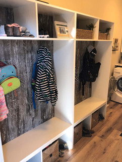Custom work, closet organizer, designed, built, installed by Wood Products Unlimited