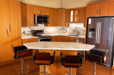 Custom kitchen designed, built, installed by Wood Products Unlimited