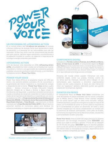 """Spanish-Language mPowering Action """"Power Your Voice"""" Print Creative"""
