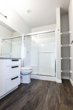 Custom ensuite bathroom by Wood Products Unlimited