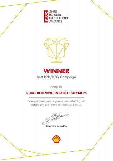 Shell Polymers Best Brand Campaign Award