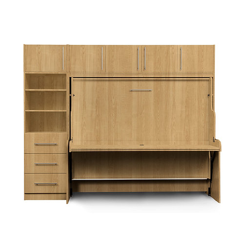Premium hidden bed - murphy wall bed bundled model including accessories, made in Canada furniture