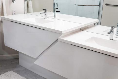 Custom work, bathroom vanity by Wood Products Unlimited