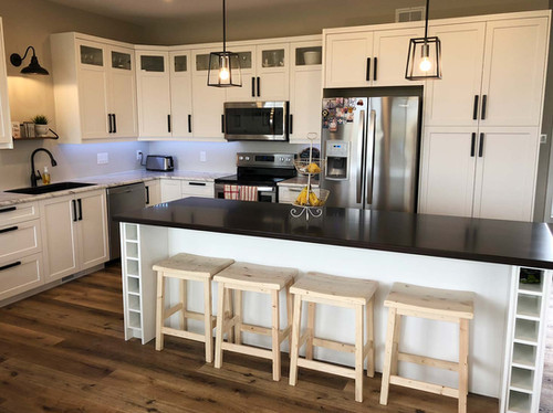 Custom work, kitchen designed, built, installed by Wood Products Unlimited