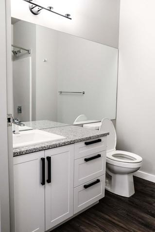 Custom work, washroom vanity by Wood Products Unlimited