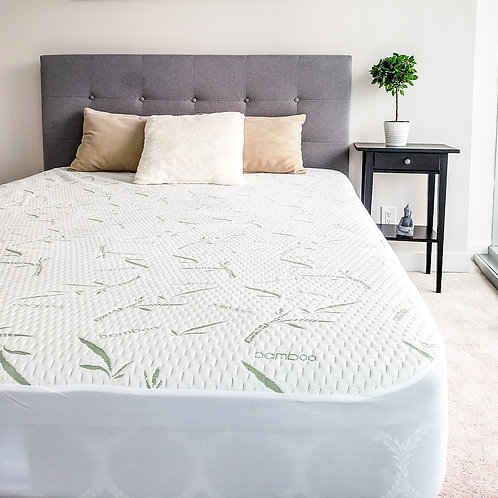 Bamboo mattress protector - bugproof, waterproof, dust resistant, breathable