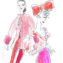 Phantom Thread in Pink & Red