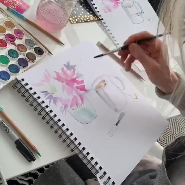 Live Warecolor Painting