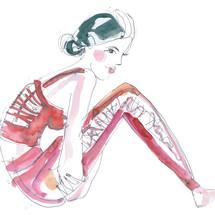 Red Yoga Wear