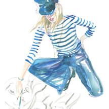 Painter Girl in Newsboy cap