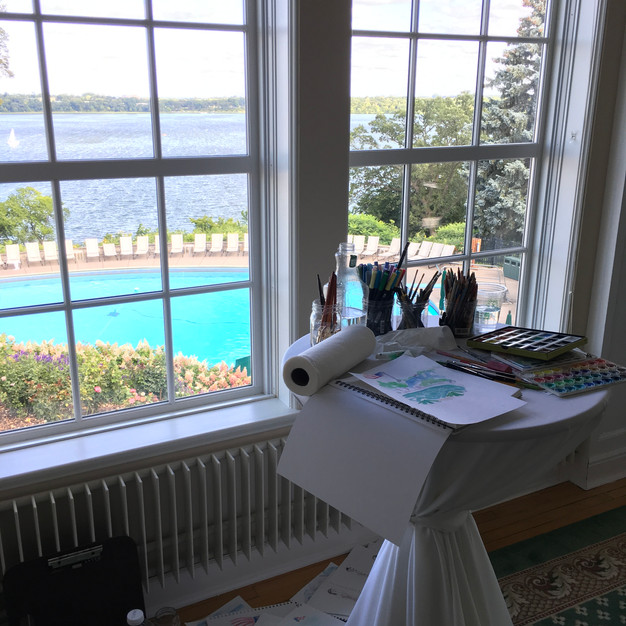 Live Painting at Gould |Kelly Wedding
