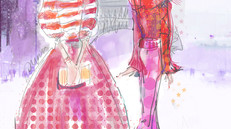 Phantom Threads in Pink & Red