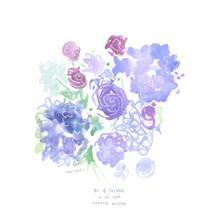 Blue Floral Design for Summer WEding