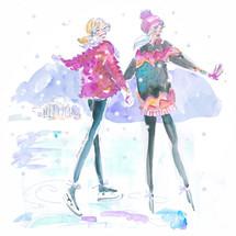 Ice skating Besties