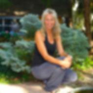 Photo of Pepper Tharp Ilsutrator in her Minneapolis Garden