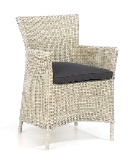 Old White Weave Arm Chair