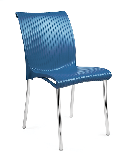Durban Blue Side Chair