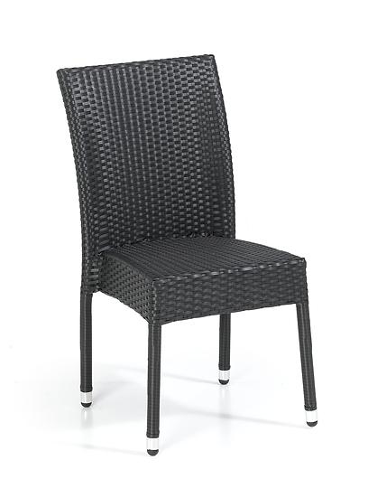 Black Ridged Weave Stacking Chair