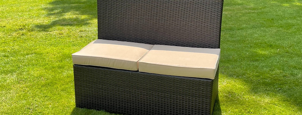 Brown Weave Box Bench