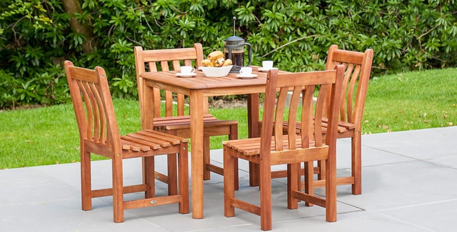 Broadfield 80cm Square Table and Side Chair Set