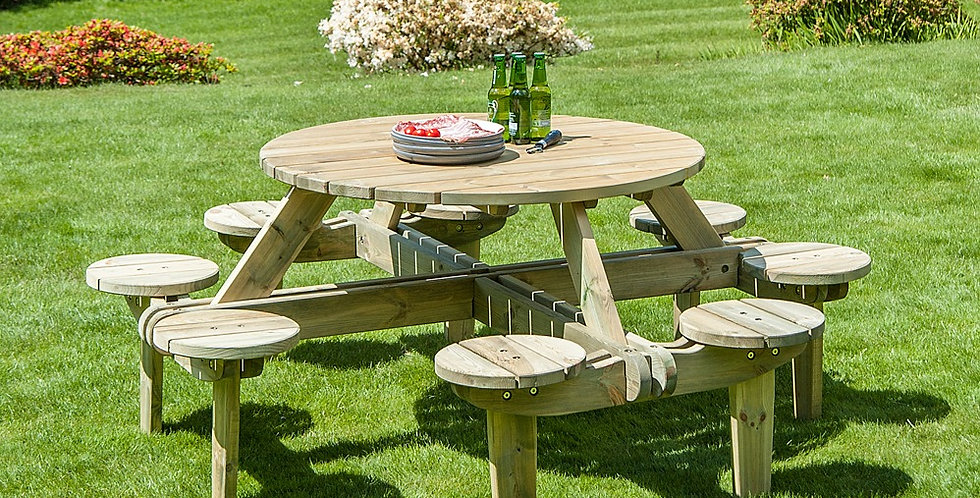 Roundabout 8 Seater Family Table