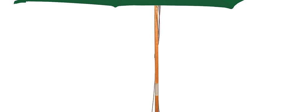 2m Sq Wooden Parasol & Base