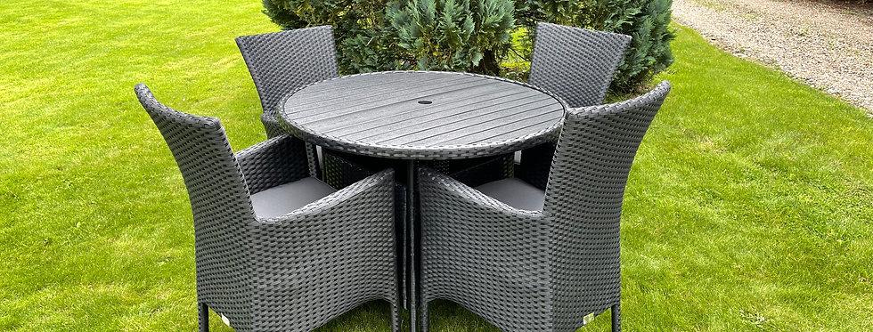Black Weave Table & Chair Set