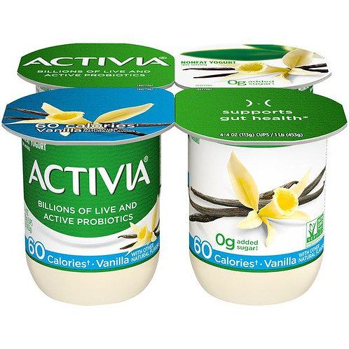 Activia Nonfat Probiotic Vanilla Yogurt 4pk