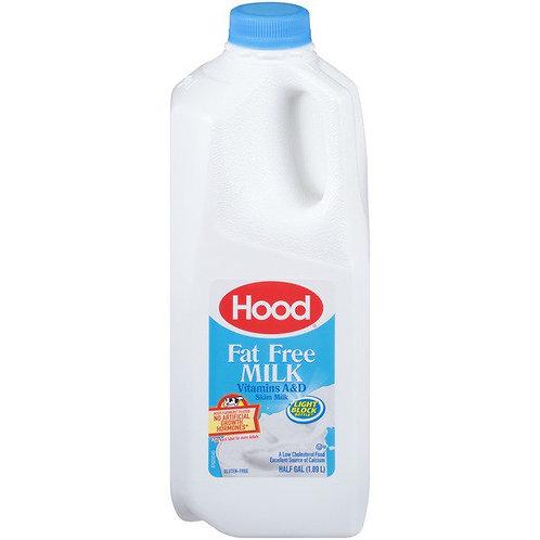 Hood Fat Free Milk 1/2 Gallon