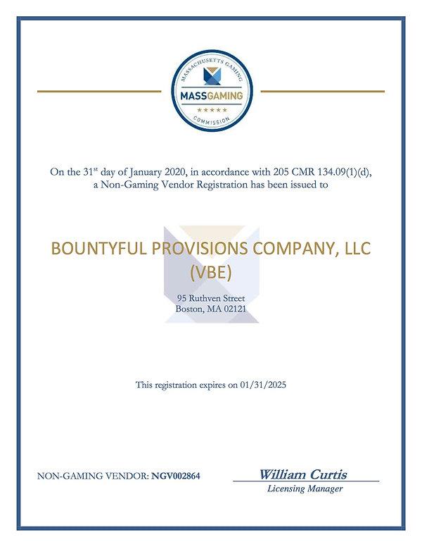 NGV2864 Bountyful Provisions Company, Ce