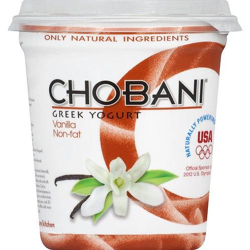 Chobani Vanilla Blended Non-Fat Greek Yogurt 32oz