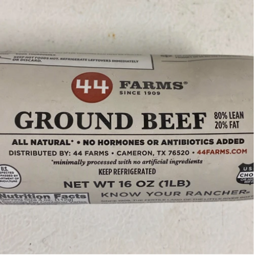 All Natural Angus Ground Beef, 4 pounds
