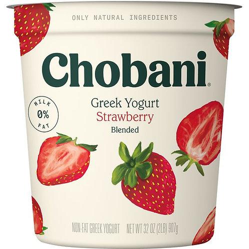Chobani Yogurt, Greek, Strawberry, Blended 32oz
