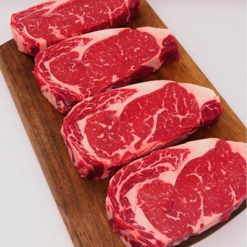 USDA Prime Grassfed Ribeye Steak, Four 14 oz portions
