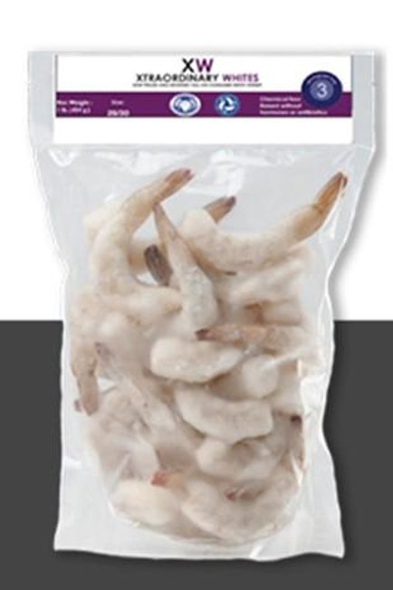 Extra Large Shrimp, Tail On, Peeled and Deveined, 16-20 shrimp/lb, 2 lb, 5 count