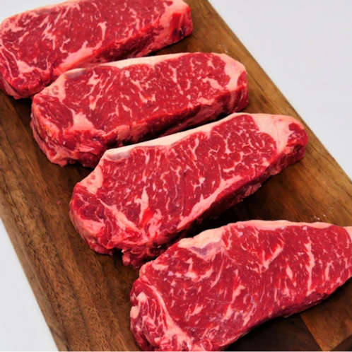 USDA Prime All Natural Strip Steak, Four 10 oz portions