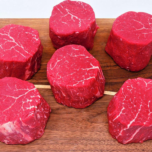 Filet Mignon Box 6 pieces of 8 oz USDA Choice Filets